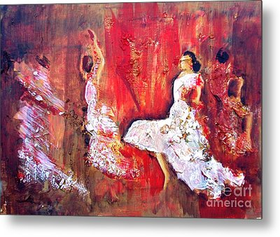 Gypsies In Granada Metal Print by Jolanta Shiloni