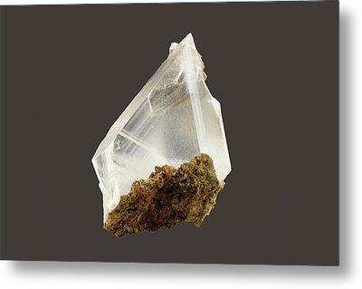 Gypsum Crystals Metal Print by Science Stock Photography