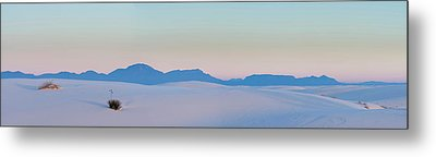 Gypsum Dunes At First Light Of Morning Metal Print by Panoramic Images
