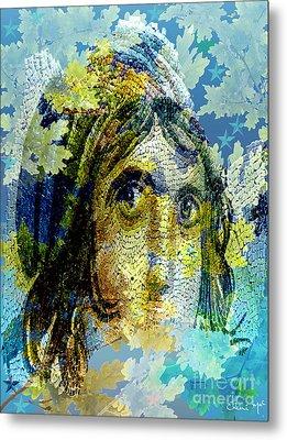 Gypsy Girl Mosaic Metal Print