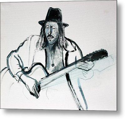 Gypsy Guitarist Metal Print by Asha Carolyn Young