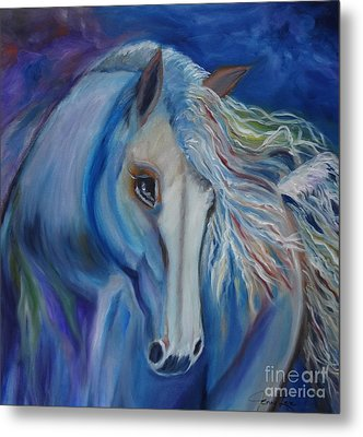 Metal Print featuring the painting Gypsy Shadow by Jenny Lee