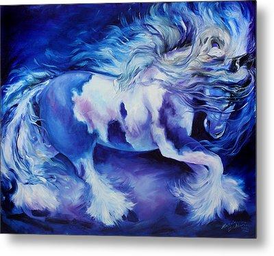 Gypsy Vanner In Blue Metal Print