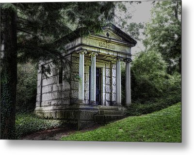 H C Ford Mausoleum Metal Print by Tom Mc Nemar