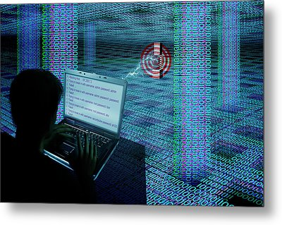 Hacking The Internet Metal Print