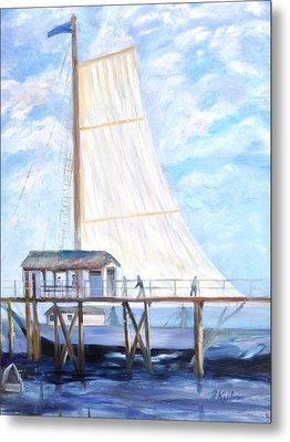 Hackney's Sailboat Metal Print