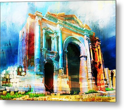 Hadrians Arch Metal Print by Catf