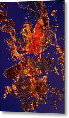 Haemoglobin Crystals Metal Print by Antonio Romero