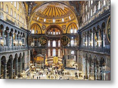 Hagia Sofia Interior 35 Metal Print by Antony McAulay