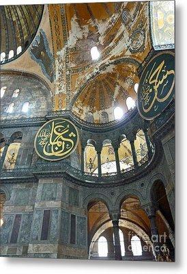 Metal Print featuring the photograph Hagia Sophia 3 - Istanbul by Cheryl Del Toro