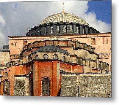 Hagia Sophia Ayasofya Meydani Byzantine Basilica Later Imperial Mosque Istanbul Turkey Metal Print by Ralph A  Ledergerber-Photography