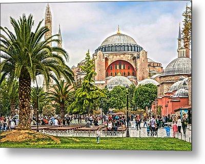 Hagia Sophia Istanbul 2013 Metal Print by Lutz Baar