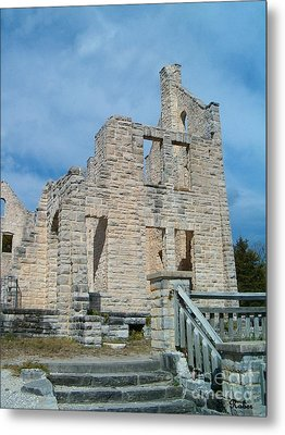 Metal Print featuring the photograph Haha Tonka Castle 2 by Sara  Raber