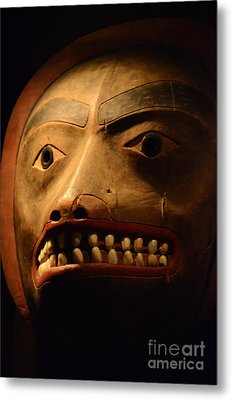 Tlingit Mask Metal Print by Bob Christopher