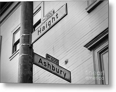 Haight And Ashbury Metal Print