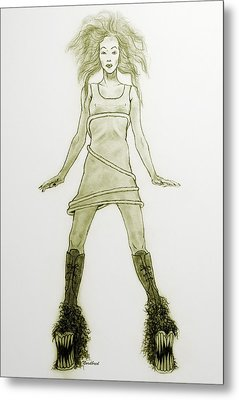 Hairy Boots Metal Print