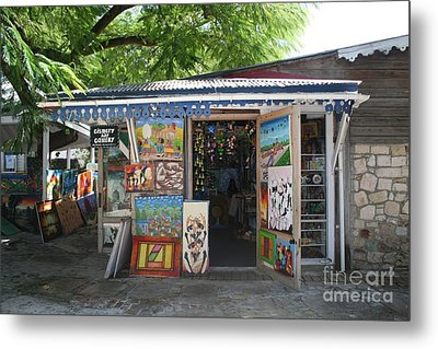 Metal Print featuring the photograph Haitian Art Shack by The Art of Alice Terrill