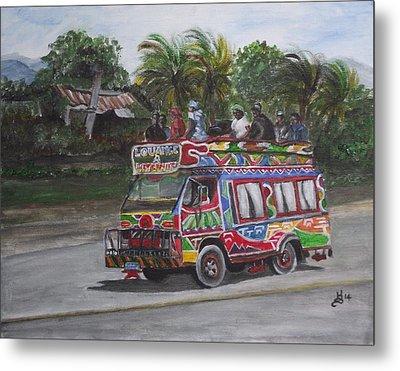 Haitian Tap Tap Bus Metal Print