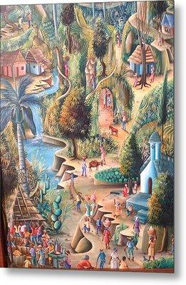 Haitian Village Metal Print by Dimanche from Haiti