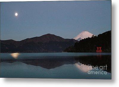 Hakone Lake Metal Print by John Swartz