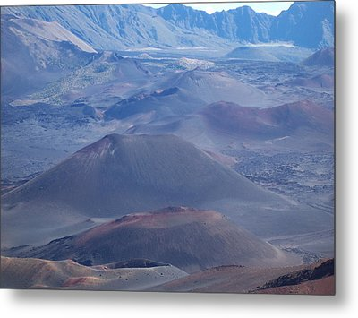 Metal Print featuring the photograph Haleakala Crater by Sheila Byers