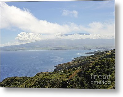 Haleakala Volcano And Coastline Metal Print
