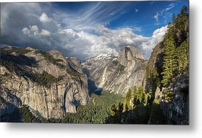 Half Dome From Four Mile Metal Print by Chris Martin