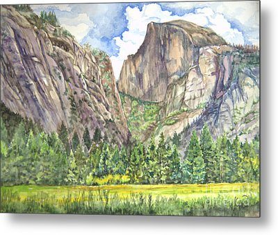 Half Dome In Spring Metal Print by Heewon Kim