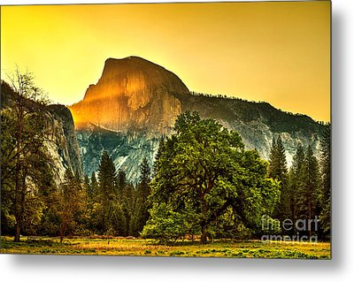 Half Dome Sunrise Metal Print