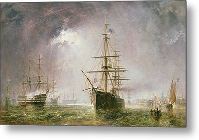 Half Mast High 19th Century Metal Print by  Robert  Dudley