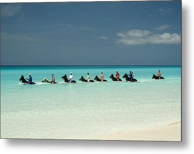 Half Moon Cay Bahamas Beach Scene Metal Print by David Smith
