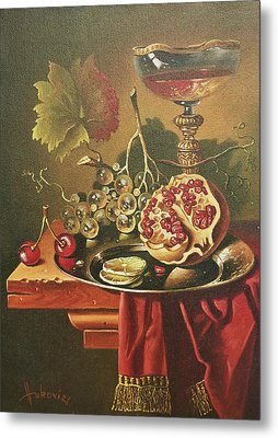 Half Of Pomegranate For You Metal Print by Dusan Vukovic