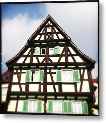 Half-timbered House 01 Metal Print by Matthias Hauser