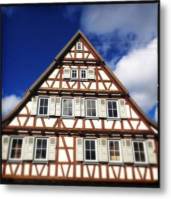 Half-timbered House 03 Metal Print by Matthias Hauser
