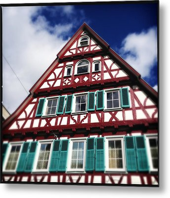 Half-timbered House 04 Metal Print by Matthias Hauser