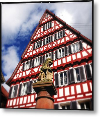 Half-timbered House 07 Metal Print by Matthias Hauser
