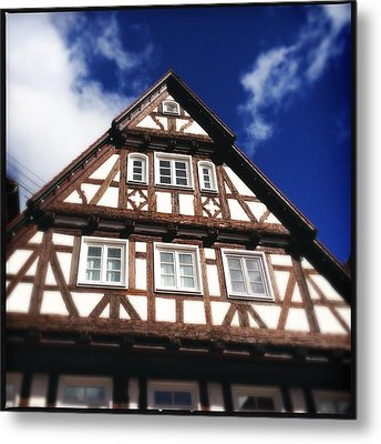 Half-timbered House 08 Metal Print by Matthias Hauser