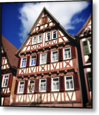 Half-timbered House 10 Metal Print by Matthias Hauser