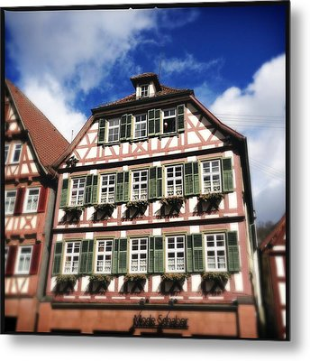 Half-timbered House 11 Metal Print by Matthias Hauser