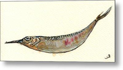 Halfbeak Fish Metal Print by Juan  Bosco