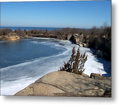 Icy Quarry Metal Print by Catherine Gagne