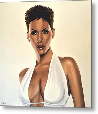 Halle Berry Painting Metal Print