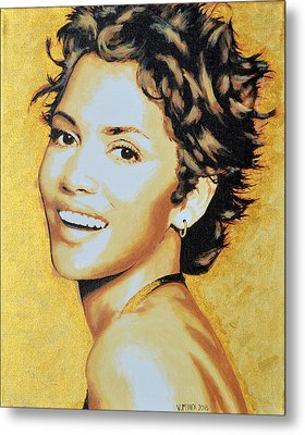 Halle Berry Metal Print by Victor Minca