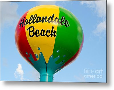 Hallendale Beach Water Tower Metal Print