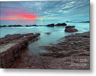 Hallett Cove Sunset Metal Print
