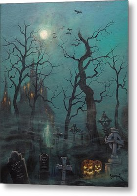 Halloween Ghost Metal Print by Tom Shropshire