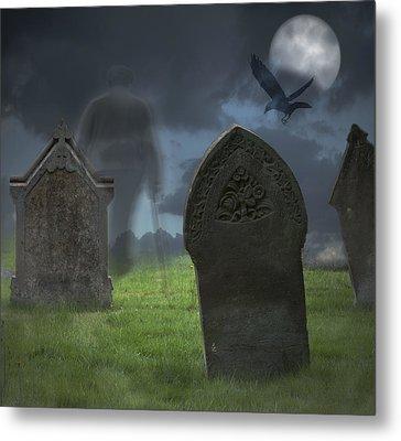 Halloween Graveyard Metal Print