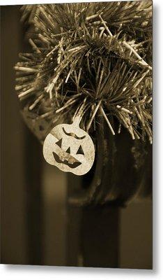 Halloween Greetings Metal Print