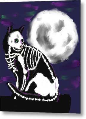 Halloween Night Metal Print by Stacy Parker