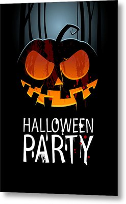 Metal Print featuring the painting Halloween Party by Gianfranco Weiss